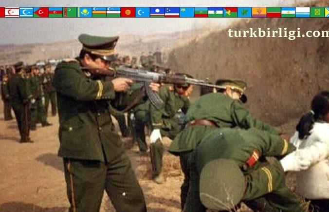 Çin 1948 yılında işgal ettiği kadim Türk yurdu Doğu Türkistan'da etnik temizlik ve katliamlar yapmakta