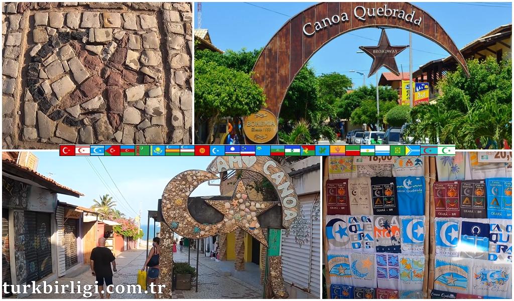 Brezilya'da TÜRK KÖYÜ Canoa Quebrada